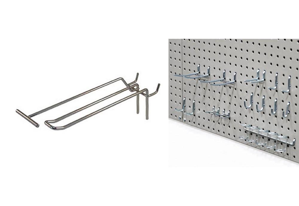 Крючки для перфорированных стеллажей