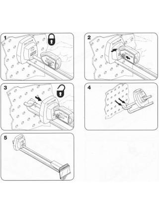 Защитный крючек для панелей с перфорацией СК-2 , 150 мм