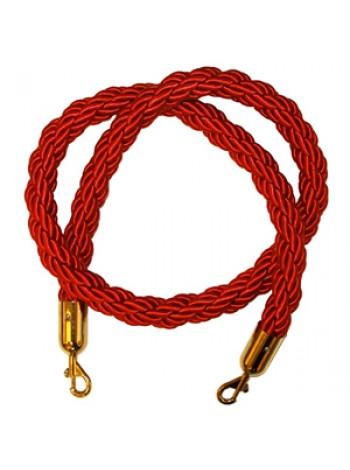 TR-G \ Канат для ограждения с карабинами L=1,5м (плетенный)